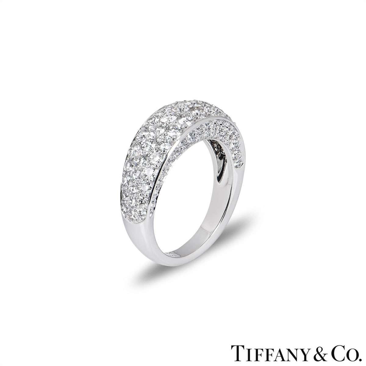 Tiffany & Co. White Gold Pave Diamond Ring
